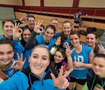 Die Damen 1 konnten beim ersten Spiel im Jahr 2019 direkt jubeln