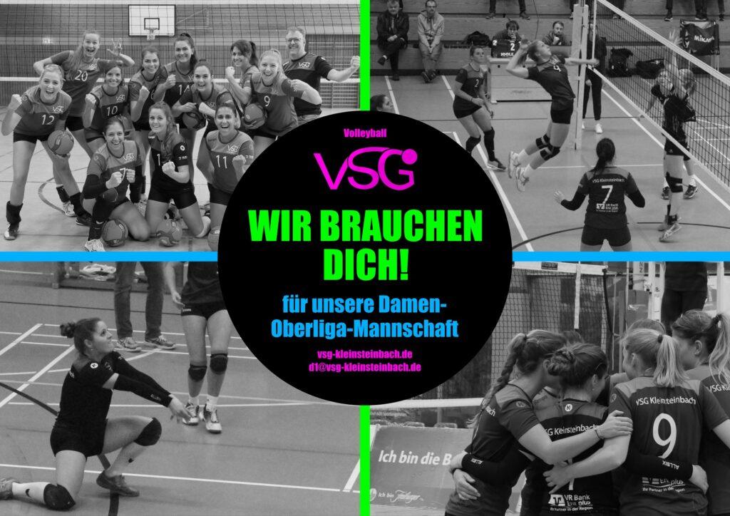 Die Damen 1 (Oberliga) der VSG Kleinsteinbach sucht neue Spielerinnen