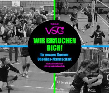 Die Damen 1 (Oberliga) der VSG Kleinsteinbach sucht Verstärkung