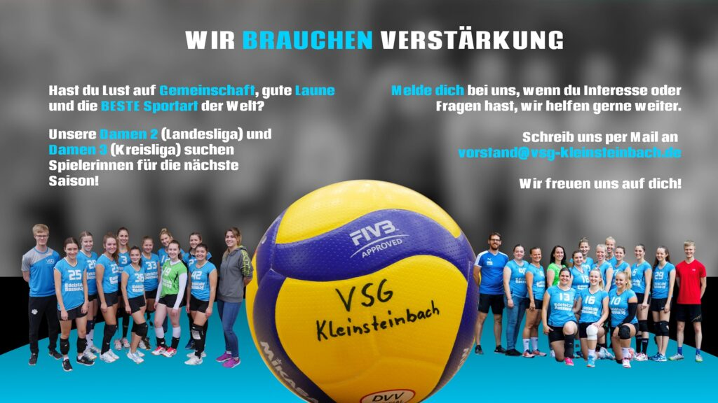 Damen 2 (Landesliga) und Damen 3 (Kreisliga) der VSG Kleinsteinbach suchen neue Spielerinnen